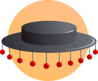 Spanish folkloric or flamenco hat Royalty Free Stock Photography