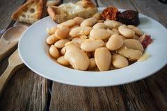 Spanish food fabada Royalty Free Stock Images