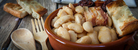 Spanish food fabada Royalty Free Stock Photography