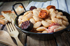 Spanish food fabada Stock Photography