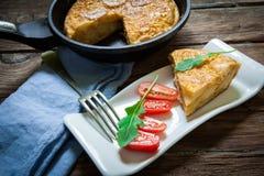 Spanish food omelette Stock Images