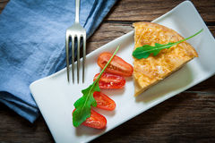 Spanish food omelette Royalty Free Stock Photo