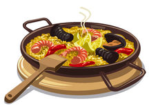 Spanish food paella Royalty Free Stock Images