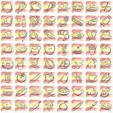 spanish food symbols royalty free stock photo