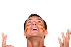 Spanish football fan royalty free stock images