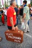 Spanish football fan Stock Image