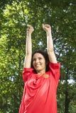 Spanish football fan Stock Photo