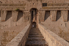 Spanish fortress in Tuscany stock photography
