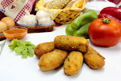 Spanish fried Croquettes Stock Image