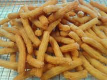 Spanish fried dough sticks Stock Image