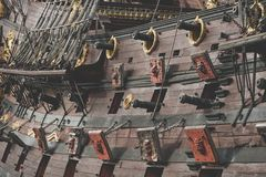 Spanish Galleon Cannons Royalty Free Stock Image