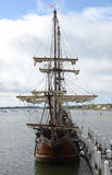 Spanish Galleon at Dock royalty free stock image
