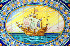 Spanish galleon, house of Seville, Spain Stock Images