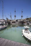 Spanish galleon replica in Genoa Old port Royalty Free Stock Photo