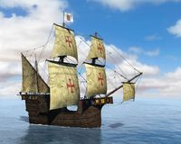 Spanish Galleon, Sailing Ship, Ocean, Sea Royalty Free Stock Images