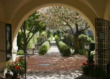 Spanish Gardens. Beautiful gardens in northen California, Menlo Park Stock Photography