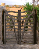Spanish Gate. Gate from a Spanish Villa to the fields behind Stock Photography