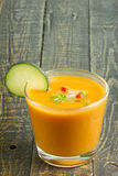 Spanish Gazpacho glass Stock Photography