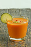 Spanish Gazpacho glass Stock Photo