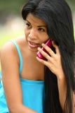Spanish Girl Calling Stock Photo