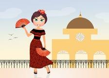 Spanish girl Royalty Free Stock Image