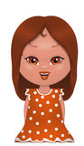 Spanish girl. Illustration on white background of a Spanish girl Royalty Free Stock Photo