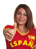 Spanish girl showing thumb up Royalty Free Stock Image