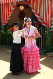 Spanish girls at the Seville Fair. Stock Image