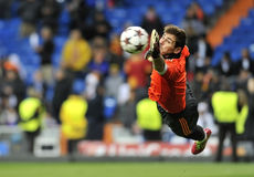 Spanish goalkeeper of Real Madrid Iker Casillas in action stock photography