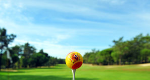 Spanish golf ball, golf in Spain stock photography