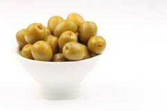 Spanish green olives Royalty Free Stock Photos