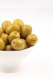 Spanish green olives Stock Image