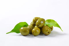 Spanish green olives Royalty Free Stock Photography