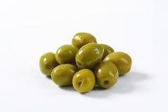 Spanish green olives Royalty Free Stock Image