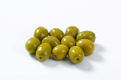 Spanish green olives Stock Photography