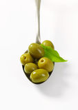 Spanish green olives Royalty Free Stock Photo