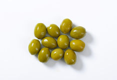 Spanish green olives Royalty Free Stock Images