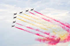 Spanish group Patrulla Aguila Stock Photo