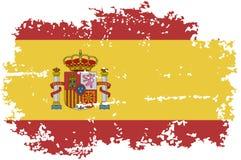Spanish grunge flag. Vector illustration. Royalty Free Stock Photo
