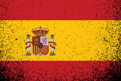 Spanish grunge ink flag illustration design Royalty Free Stock Photo