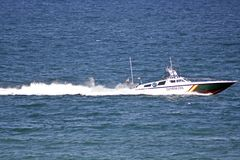 Spanish Guardia Civil coast Guard Boat Royalty Free Stock Photo