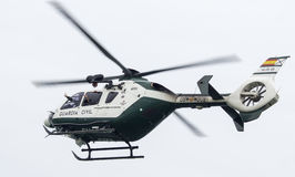 SPANISH GUARDIA CIVIL HELICOPTER Royalty Free Stock Images