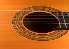 Spanish guitar. Detail stock images