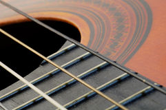 Spanish Guitar. A detail of a spanish guitar royalty free stock images