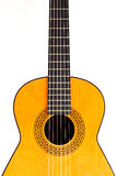 Spanish guitar (center crop) Royalty Free Stock Images