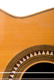 Spanish Guitar. A classical guitar over white background Royalty Free Stock Photo