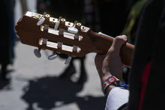 Spanish Guitar and Hand Musician. On the Street Royalty Free Stock Images