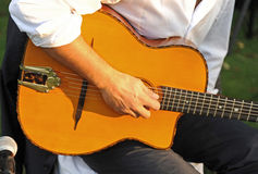 Spanish guitar, live music Royalty Free Stock Image