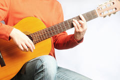 Spanish guitar man Royalty Free Stock Photo