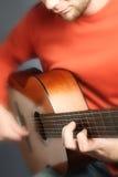 Spanish guitar man Stock Image